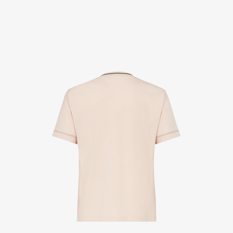 FENDI T-SHIRT - Pink jersey T-shirt - view 2 detail