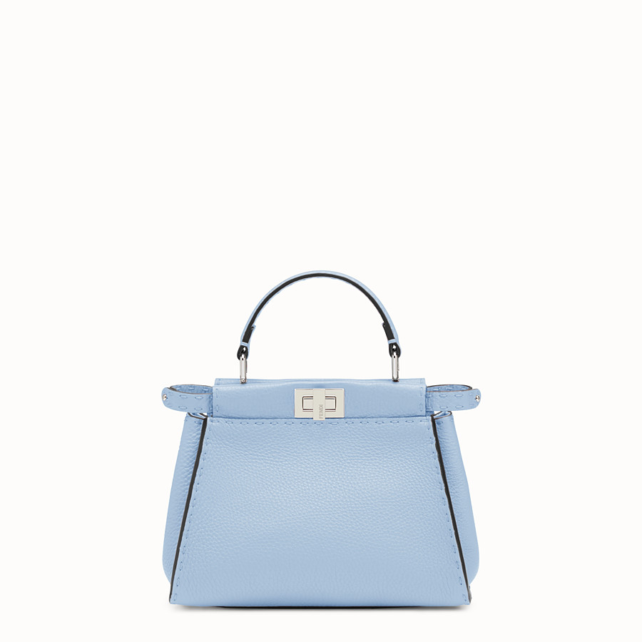 FENDI PEEKABOO MINI - Light blue leather bag - view 1 detail