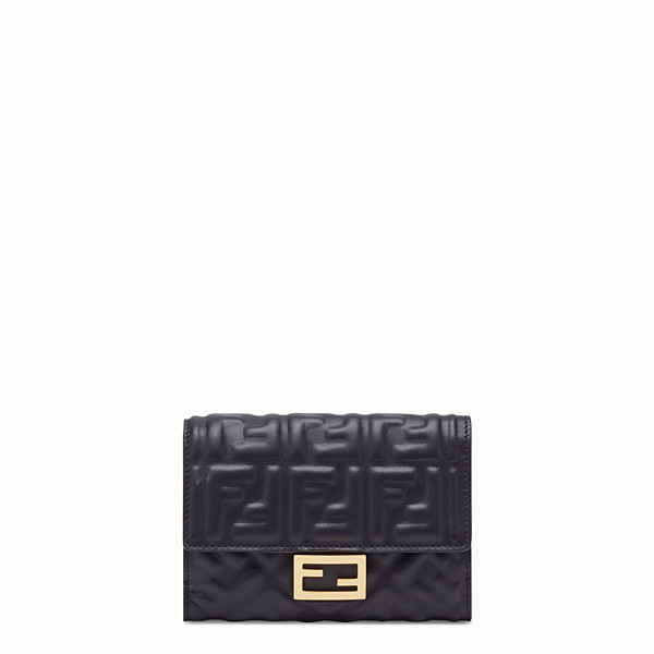 FENDI WALLET - Black nappa leather wallet - view 1 small thumbnail