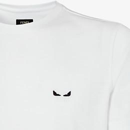 FENDI T-SHIRT - White cotton T-shirt - view 3 thumbnail