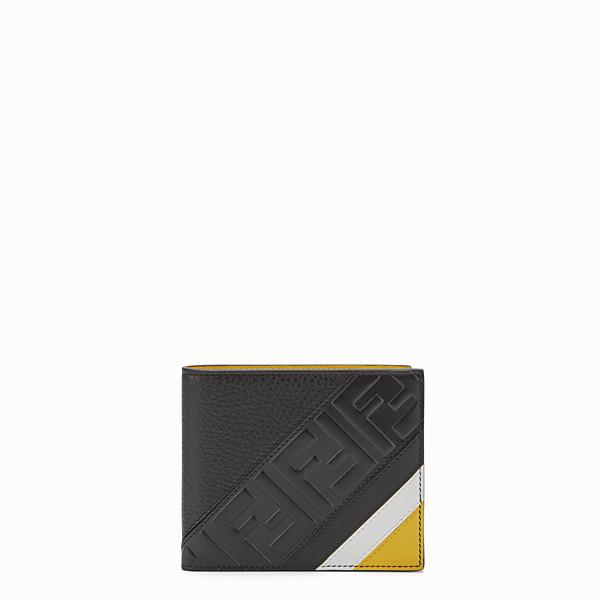 FENDI PORTEFEUILLE - Portefeuille à deux volets en cuir noir - view 1 small thumbnail