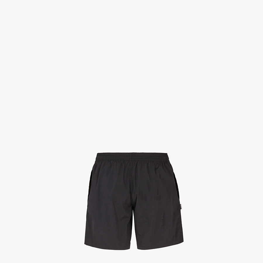 FENDI SWIM SHORTS - Black nylon swim shorts - view 2 detail