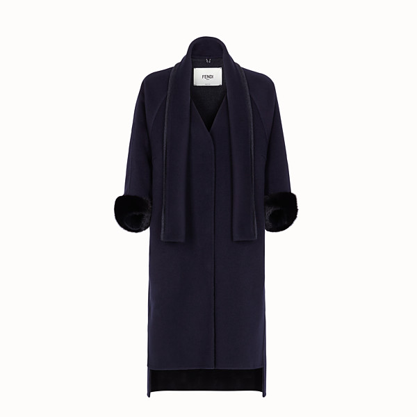 FENDI COAT - Blue cashmere coat - view 1 small thumbnail