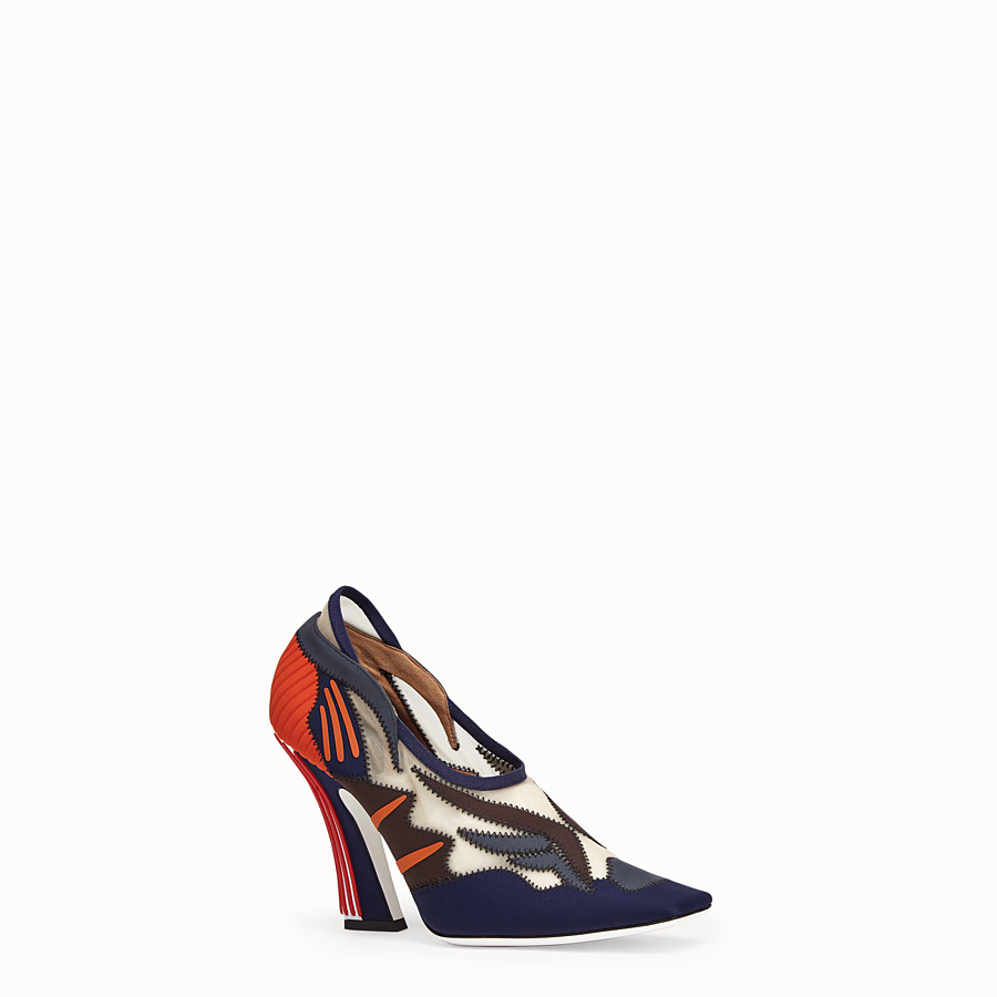 FENDI COURT SHOES - Court shoes in multicolour technical mesh - view 2 detail