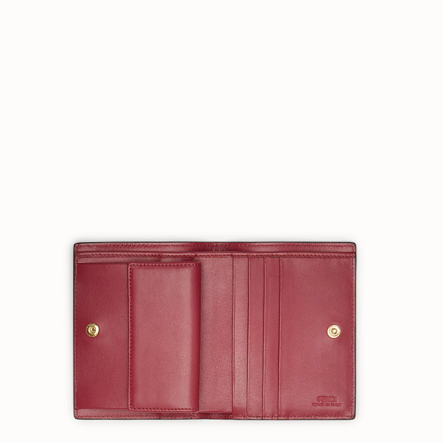 FENDI BIFOLD - Red compact leather wallet - view 4 detail