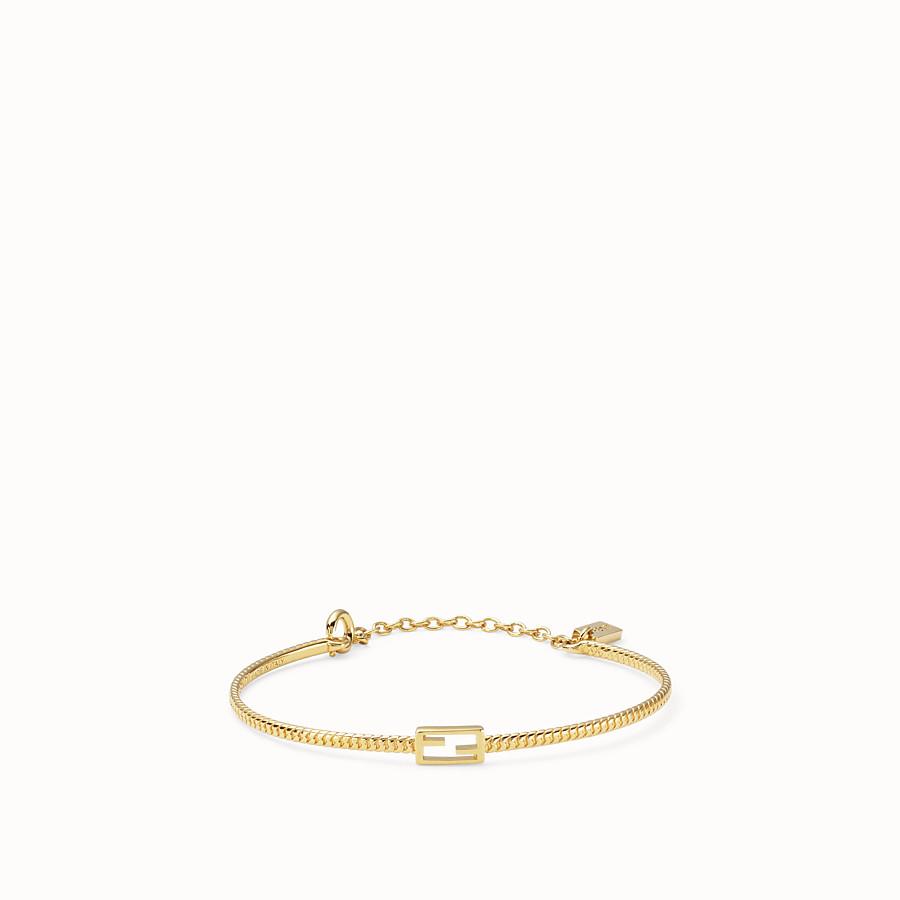 FENDI BAGUETTE BRACELET SMALL - Gold-colour bracelet - view 1 detail