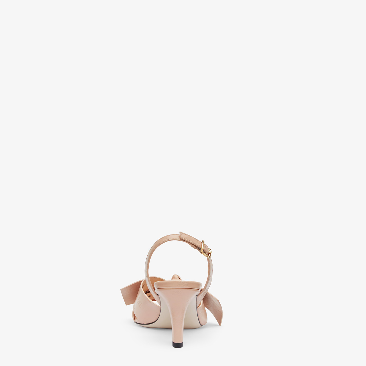 FENDI SANDALS - Pink leather sandals - view 3 detail