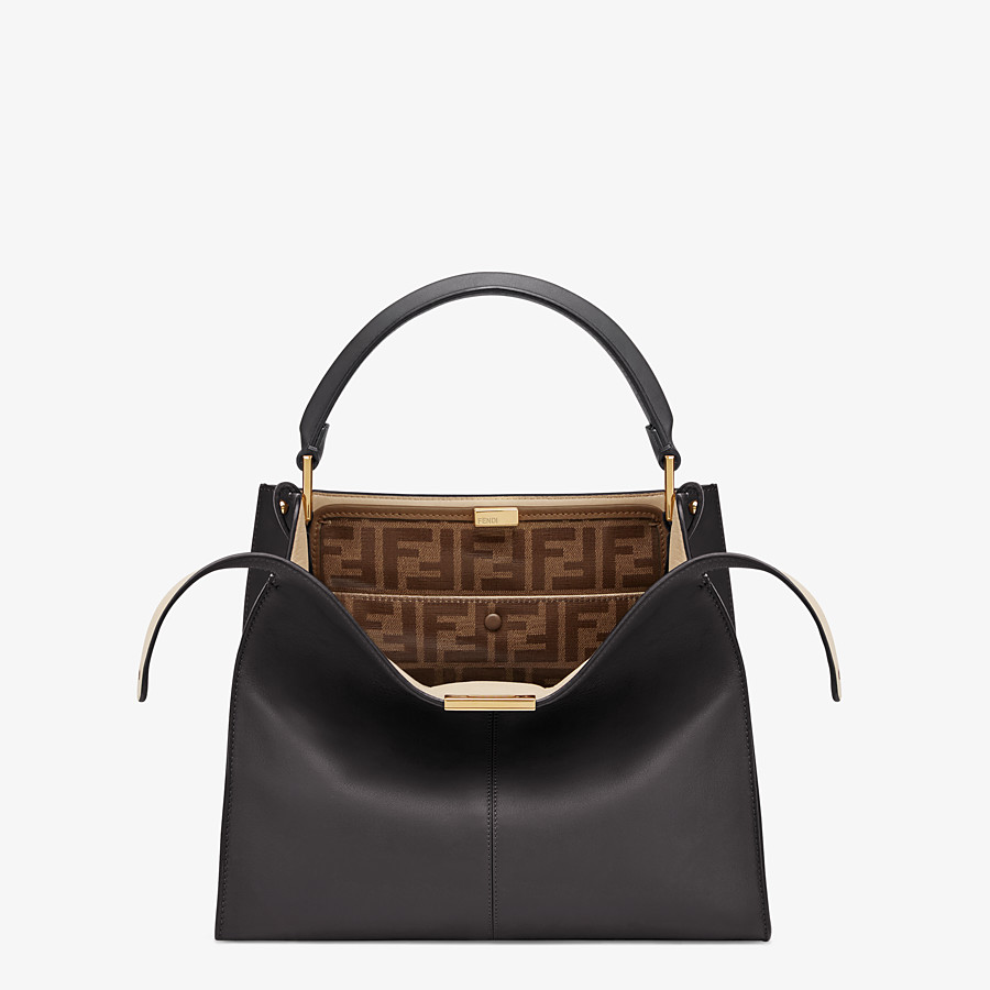 FENDI MEDIUM PEEKABOO X-LITE - Black leather bag - view 1 detail