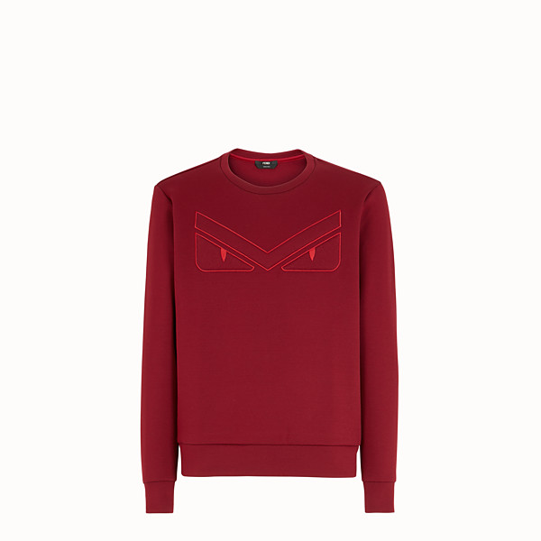 FENDI SWEATSHIRT - Red cotton sweatshirt - view 1 small thumbnail