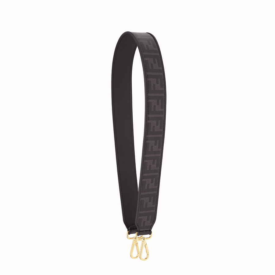 FENDI STRAP YOU - Black fabric shoulder strap. - view 1 detail
