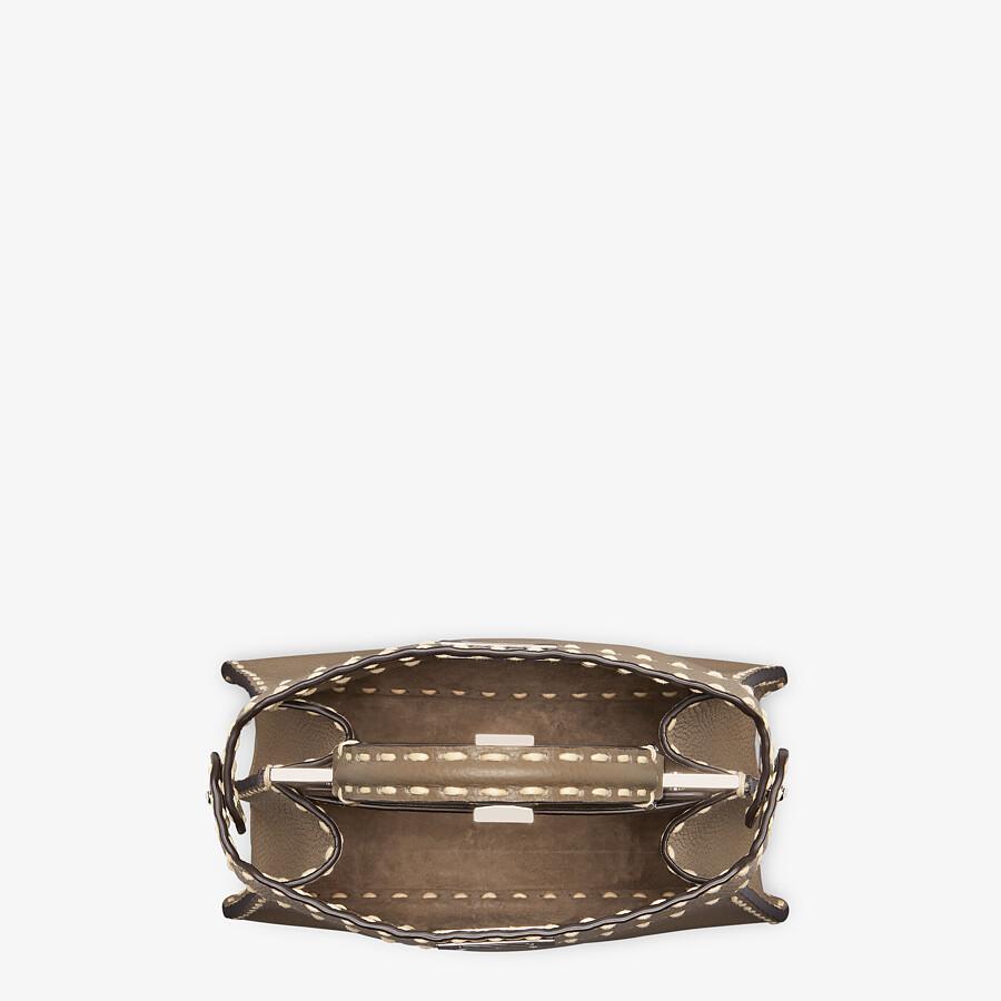 FENDI PEEKABOO ISEEU SMALL - Gray full grain leather bag - view 5 detail