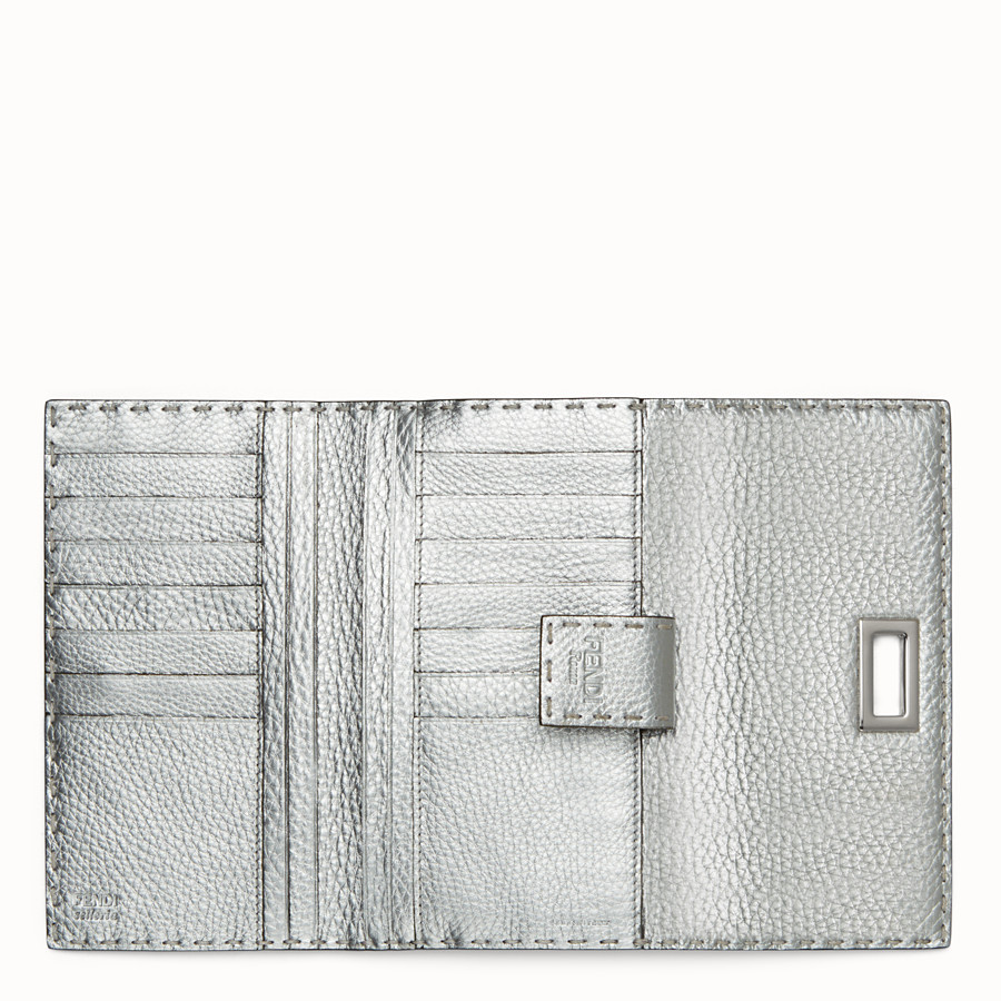 FENDI WALLET - in silver Roman leather - view 5 detail