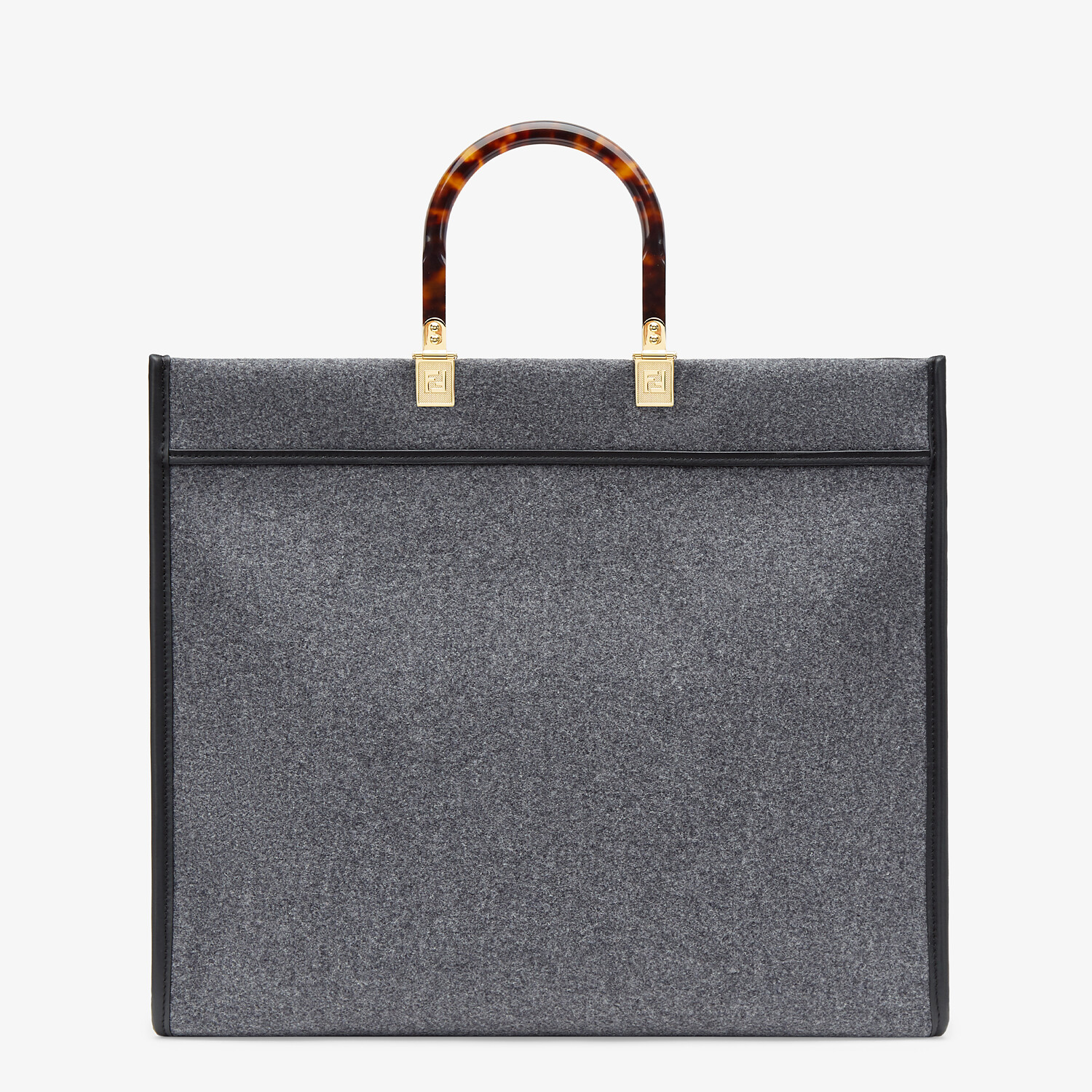 FENDI FENDI SUNSHINE LARGE - Gray flannel shopper - view 3 detail