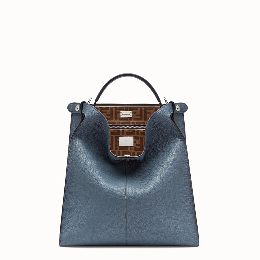 FENDI PEEKABOO X-LITE FIT - Blue Romano leather bag - view 2 detail