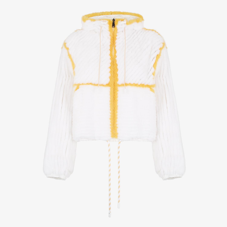 FENDI JACKET - White mink jacket - view 1 detail