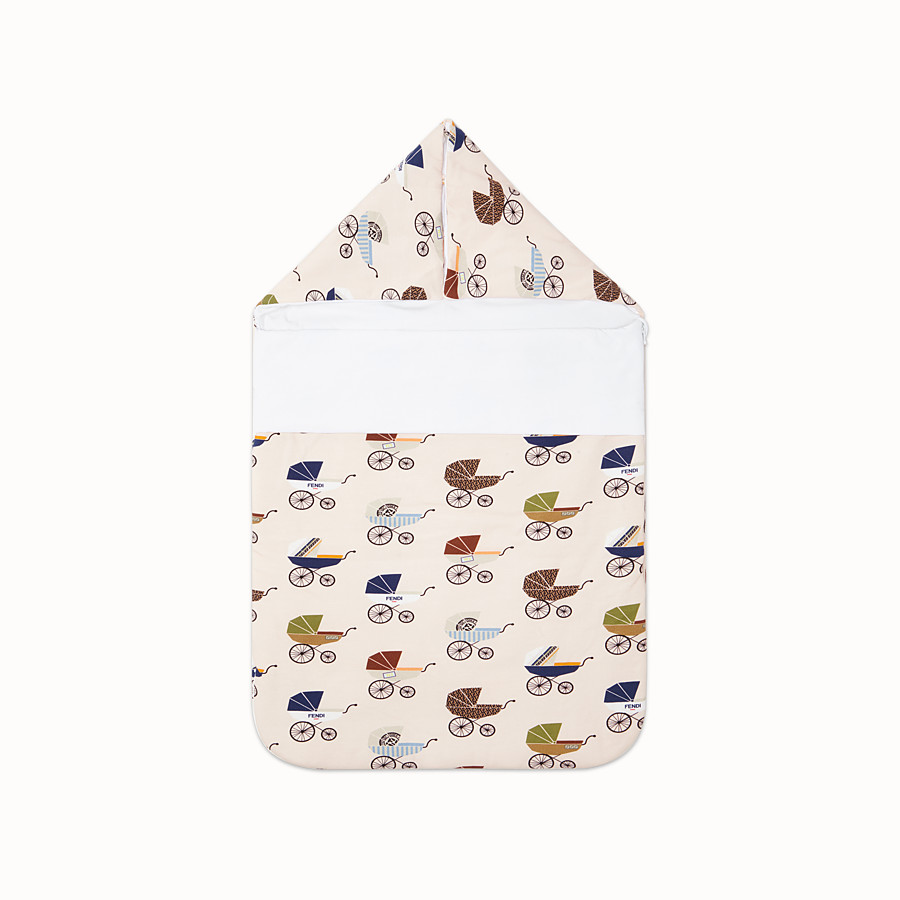 FENDI BABY SLEEPING BAG - Multicolour jersey sleeping bag - view 1 detail