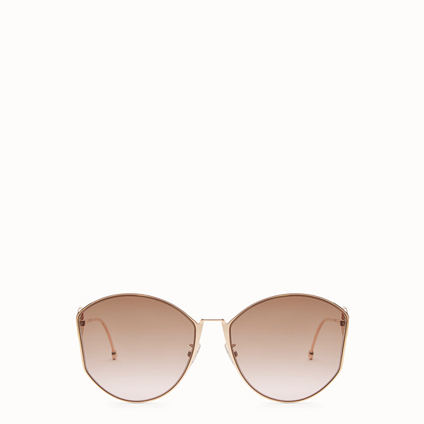 FENDI F IS FENDI - Copper-colour Asian Fit sunglasses - view 1 small thumbnail