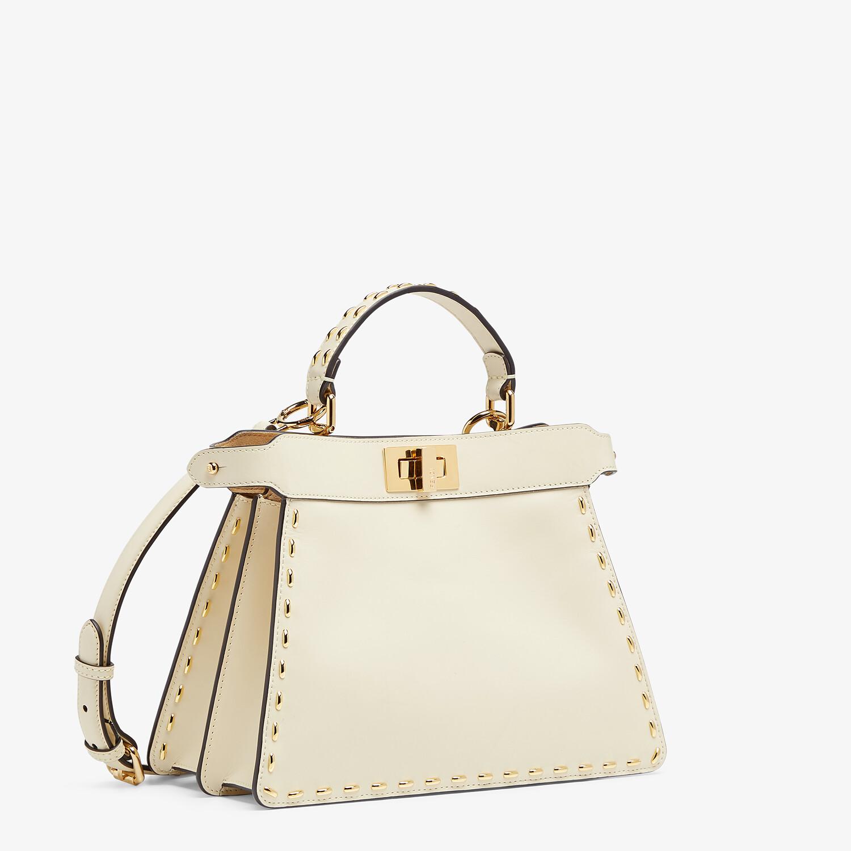 FENDI PEEKABOO ISEEU SMALL - White leather bag - view 3 detail