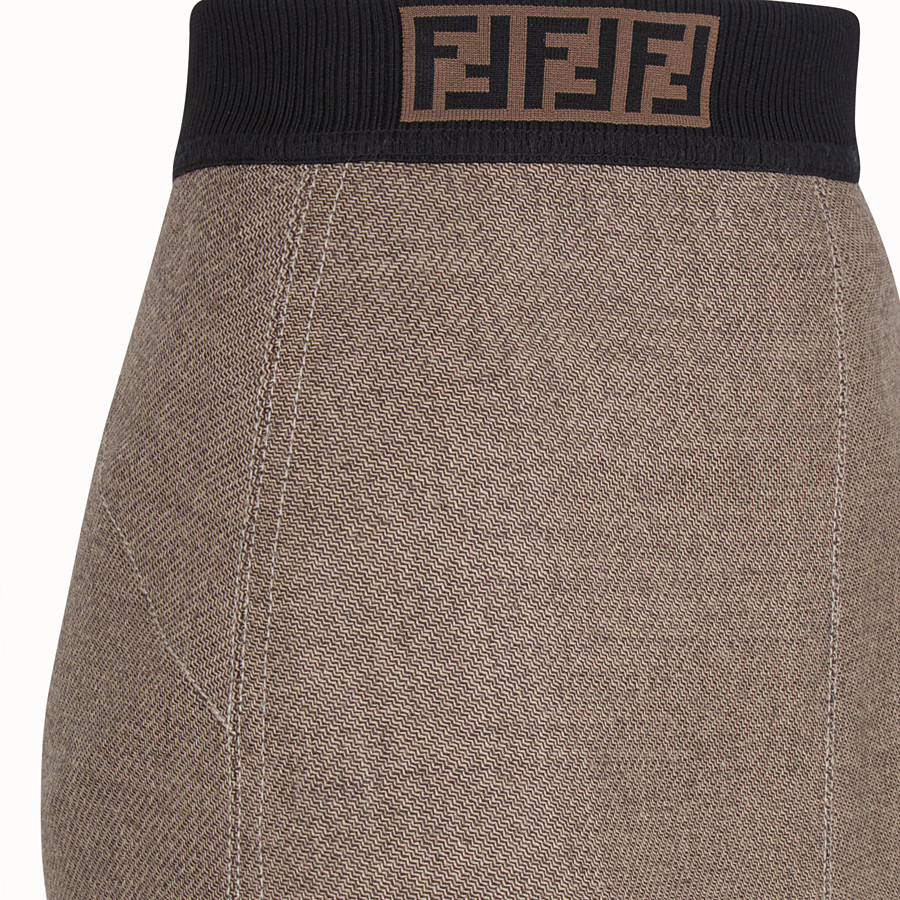 FENDI SKIRT - Grisaille wool skirt - view 3 detail