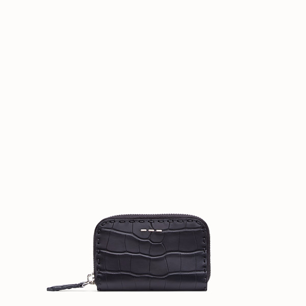 FENDI  - Black alligator leather wallet - view 1 small thumbnail