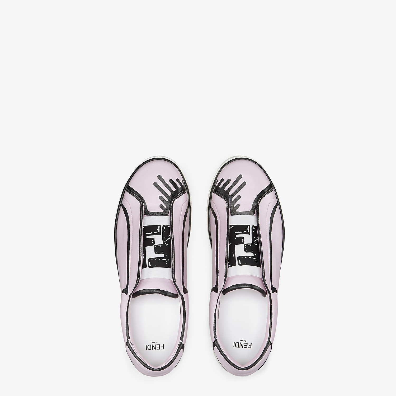 FENDI SNEAKERS - Fendi Roma Joshua Vides nappa leather slip-ons - view 4 detail