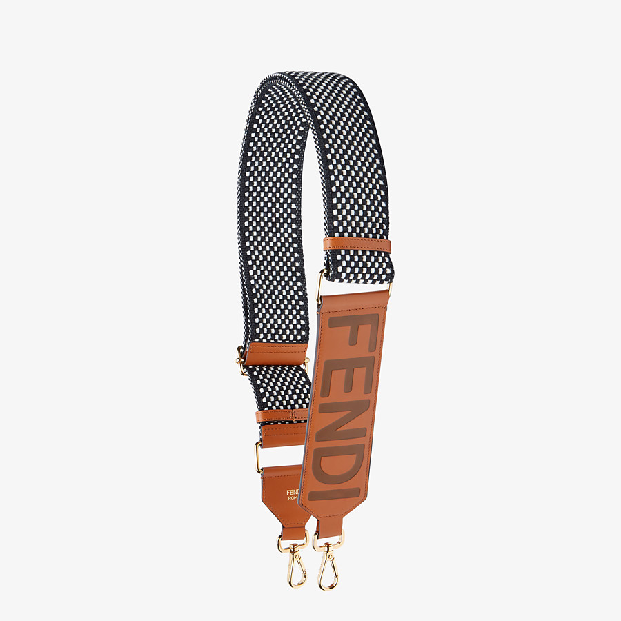 FENDI STRAP YOU - Vichy ribbon shoulder strap - view 1 detail