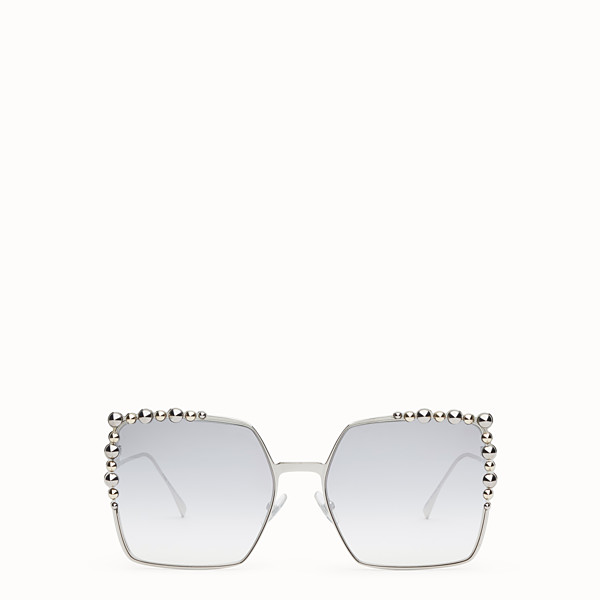 FENDI CAN EYE - Silver-colored sunglasses - view 1 small thumbnail