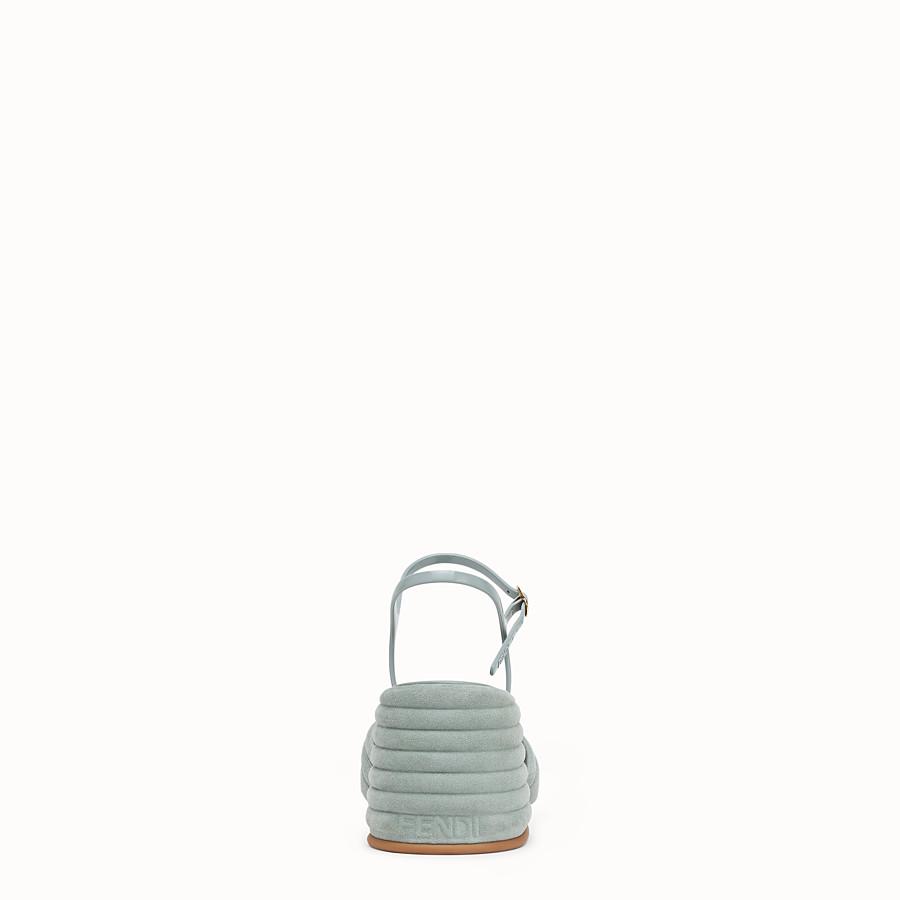 FENDI SLINGBACK - Light blue suede sandals - view 3 detail