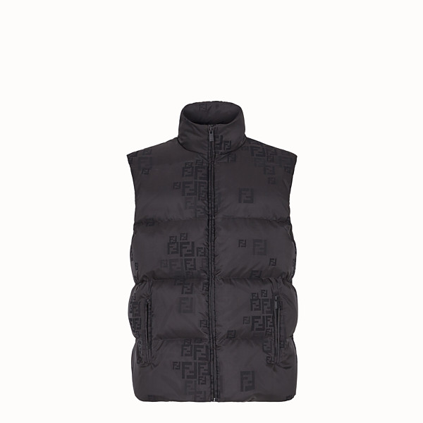 FENDI VEST - Black cotton and nylon vest - view 1 small thumbnail