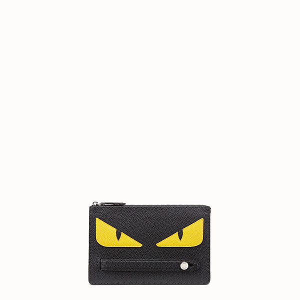 FENDI CLUTCH - in black Roman leather with inlay - view 1 small thumbnail