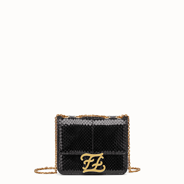 FENDI KARLIGRAPHY - Black elaphe bag - view 1 small thumbnail