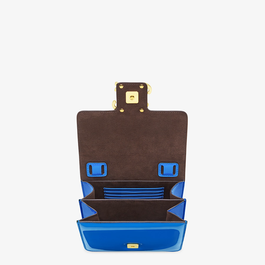 FENDI KARLIGRAPHY - Blue patent leather bag - view 4 detail