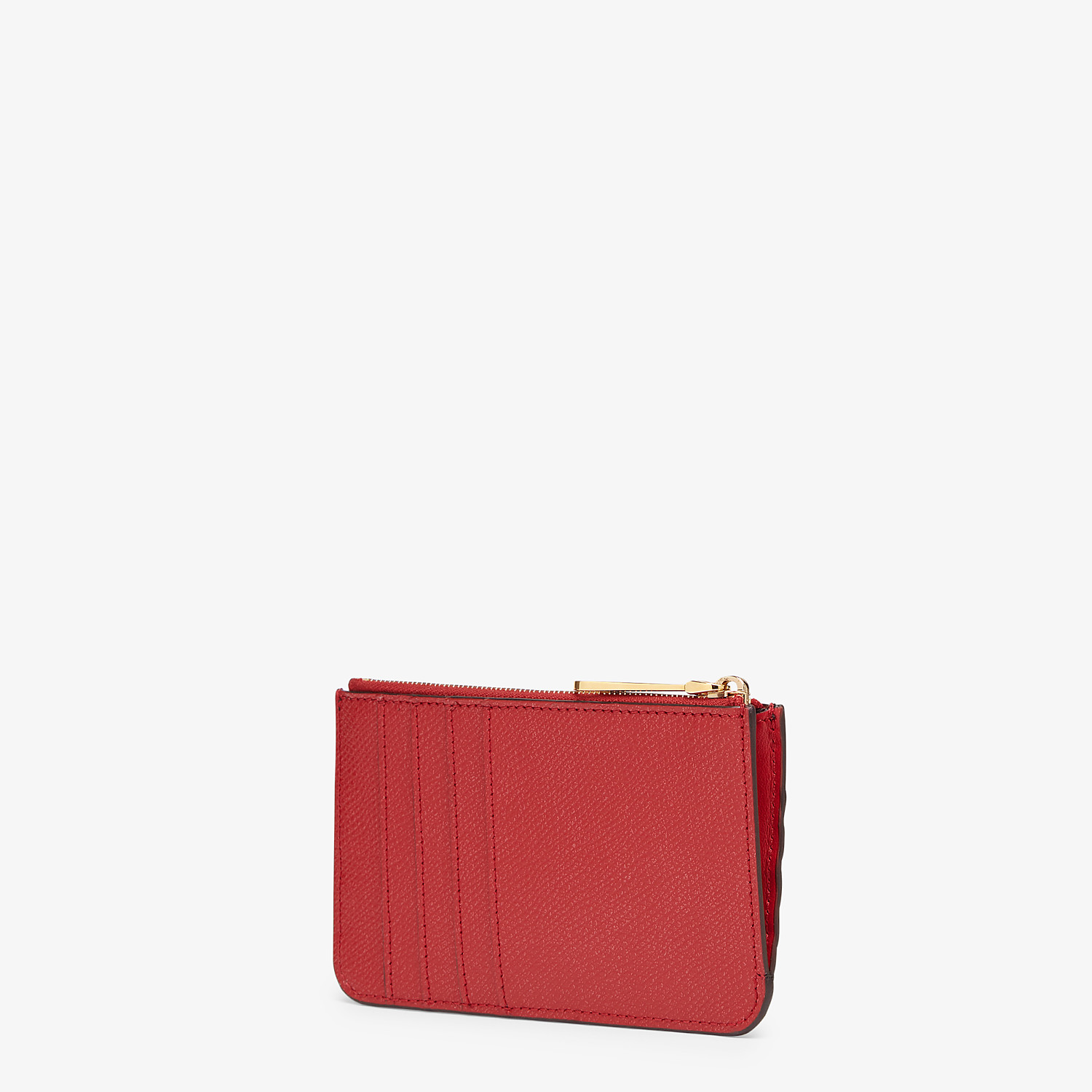 FENDI KEY CASE POUCH - Red leather pouch - view 2 detail