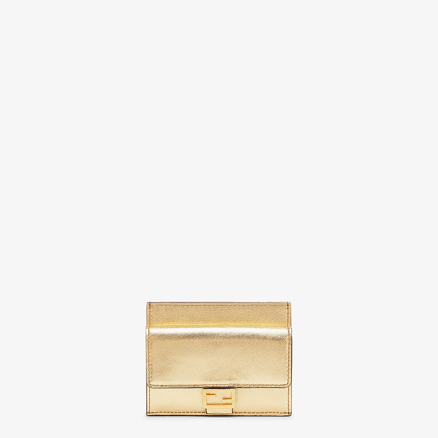 FENDI CARD HOLDER - Gold leather card holder - view 1 detail