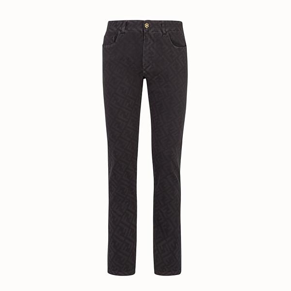 FENDI DENIM - Black denim jeans - view 1 small thumbnail