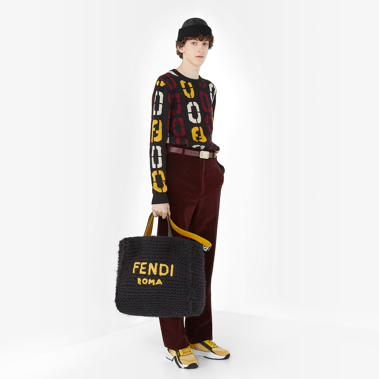 FENDI SWEATER - Black wool sweater - view 4 detail