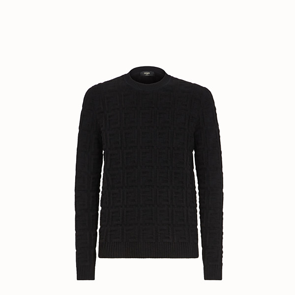 FENDI PULLOVER - Black fabric jumper - view 1 small thumbnail