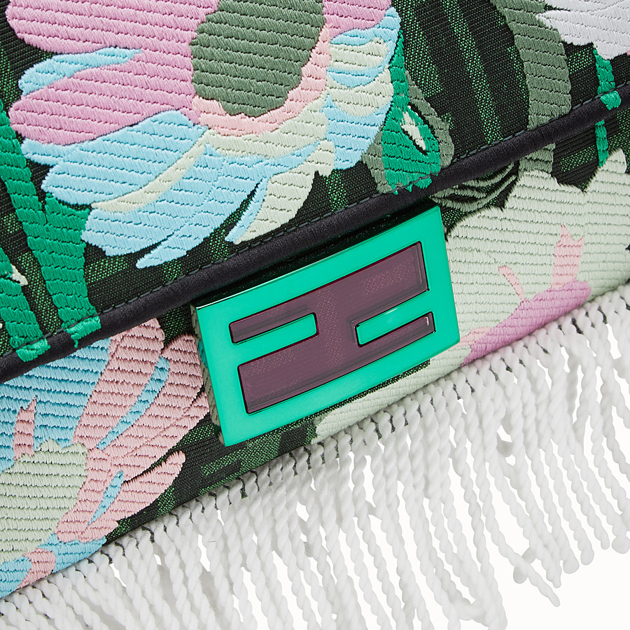 FENDI BAGUETTE - Green fabric bag - view 6 detail