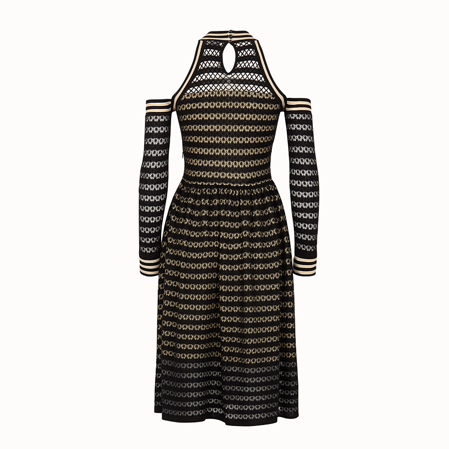 FENDI DRESS - Black silk dress - view 2 detail