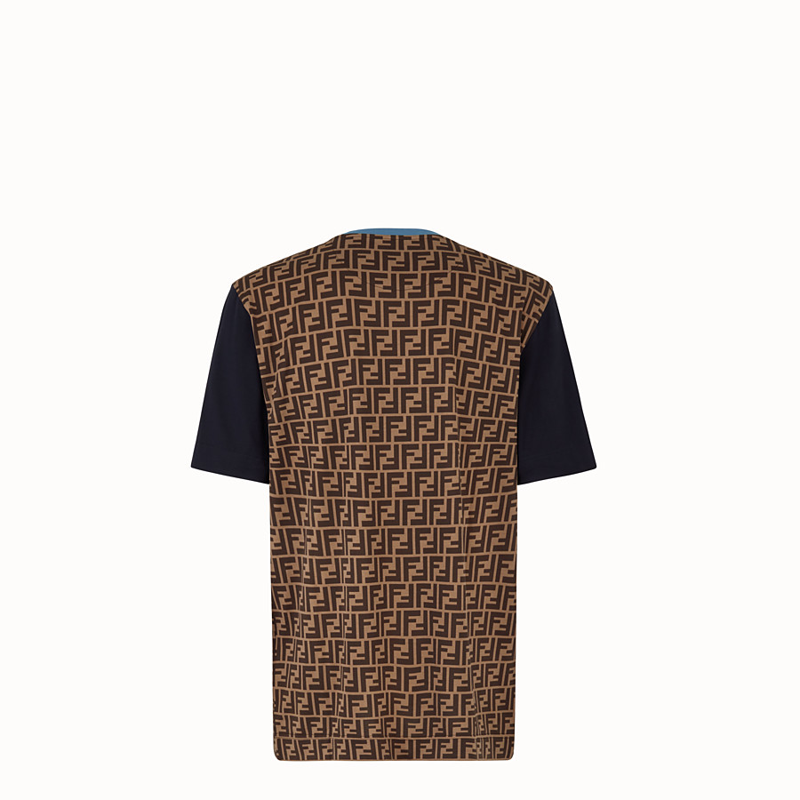 FENDI T-SHIRT - Multicoloured cotton jersey T-shirt. - view 2 detail