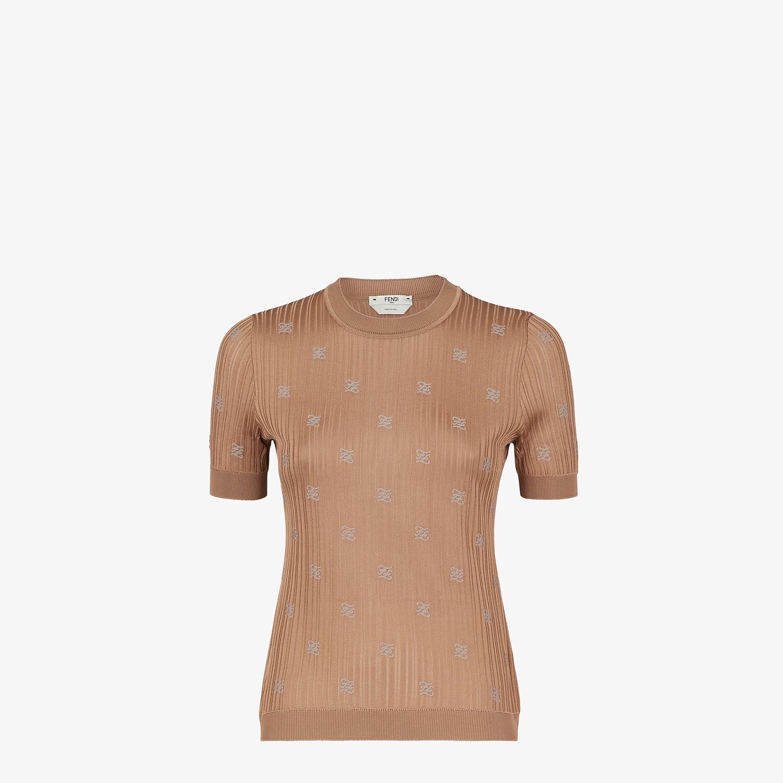 FENDI SWEATER - Brown viscose sweater - view 1 detail