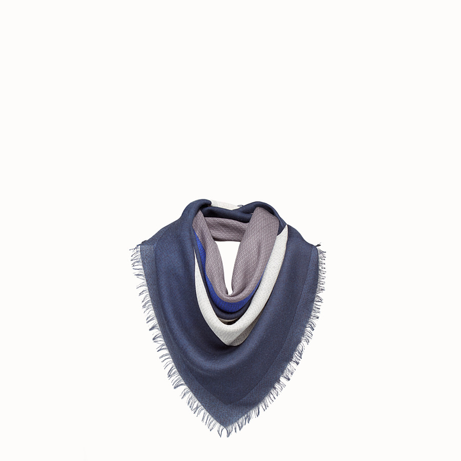 FENDI KEFIAH - 羊毛和真絲印花圍巾 - view 1 detail