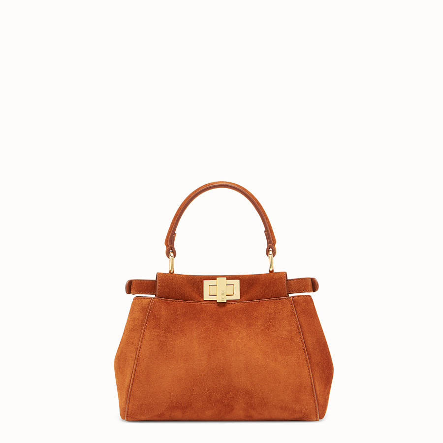 FENDI PEEKABOO XS - Brown suede minibag - view 4 detail