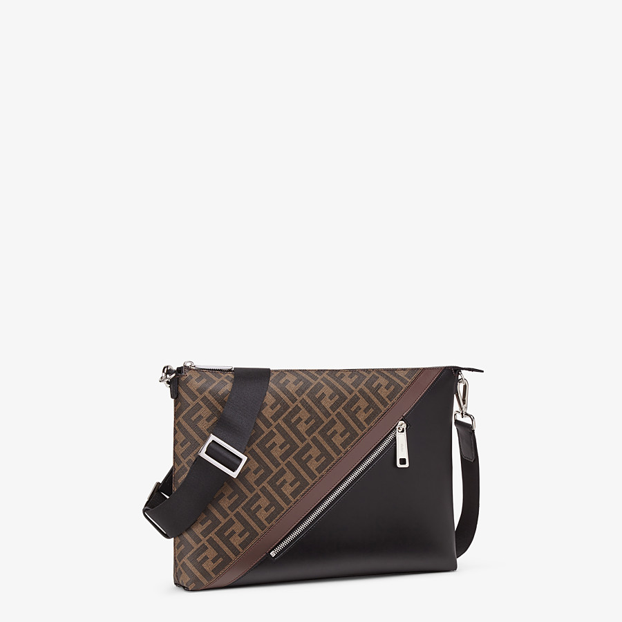 FENDI MESSENGER - Brown fabric bag - view 2 detail