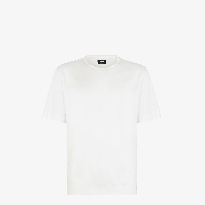 FENDI T-SHIRT - White silk T-shirt - view 1 detail