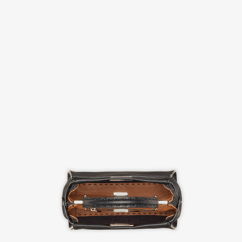 FENDI PEEKABOO ICONIC MINI - Black leather bag - view 5 detail