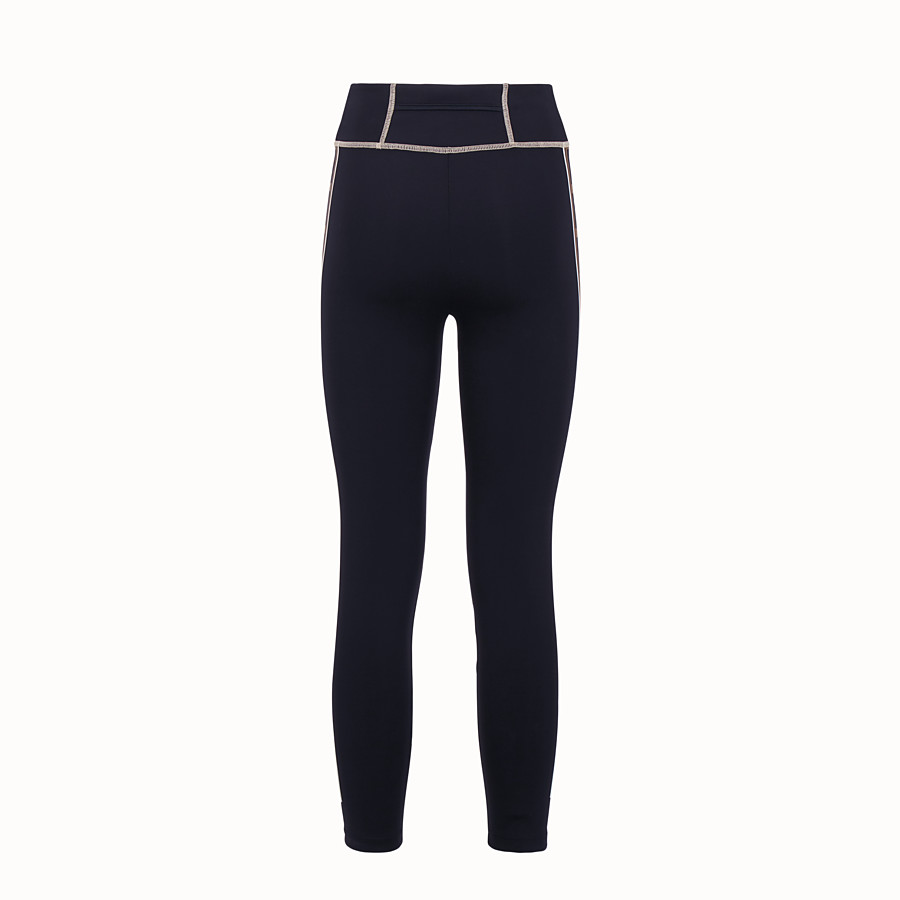 FENDI LEGGINGS - Black tech fabric trousers - view 2 detail