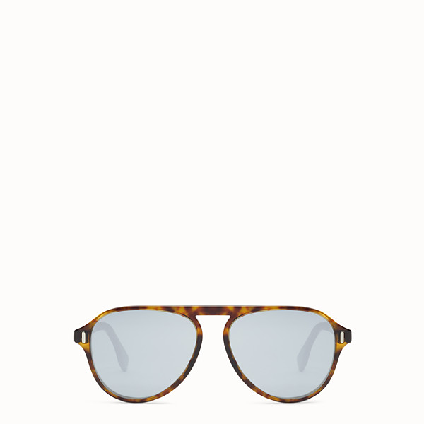 FENDI FENDI - Sonnenbrille in Havanna und Beige - view 1 small thumbnail