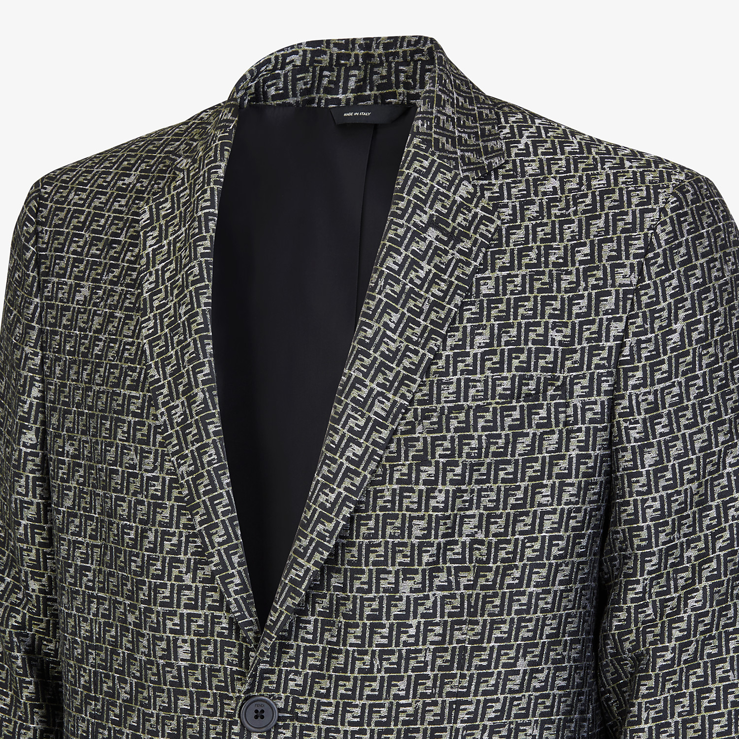 FENDI JACKET - Green jacquard blazer - view 4 detail