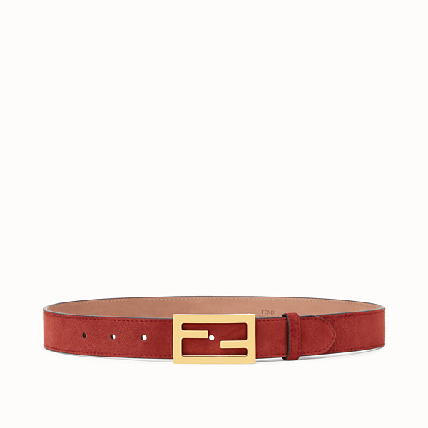 FENDI BAGUETTE BELT - Brown suede leather belt - view 1 small thumbnail